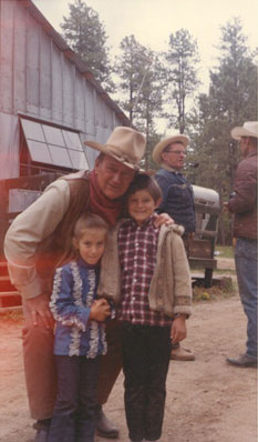 "See where John Wayne filmed most of the movie ""The Cowboys"". This picture was taken in front of our General Store!"