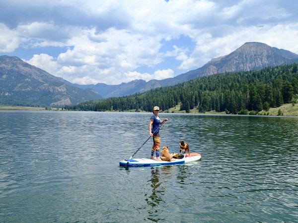 Paddle Boarding on Williams Reservoir 2018