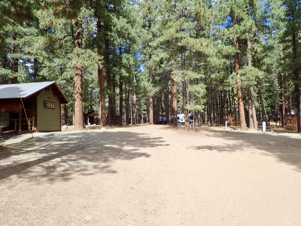 Looking into campground